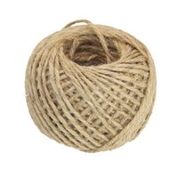Hot Retro 50Meter 1.5mm Natural Rústico Etiquetas Wrap Wedding Decoración Artesanía Jute Twine Rope Handmade DIY Party Supplies