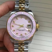Wholesale Women Mechanical Watch Sale - 2017 Holt sale womens Fashion casual brand watches Classic Antique women Ocean dive watch Luxury 18K gold Stainless steel strap big dial AAA