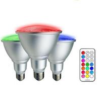 Wholesale e27 5w cool white bulb for sale - PAR20 W PAR30 W Led Lights RGB RGBW Led Bulbs Waterproof Led Lamp AC V Remote Control