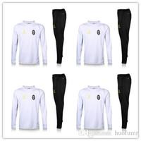 Wholesale Champagne Man Suit - 3 Colors--2016 2017 Full Zipper Juventuss Suit Soccer Jacket Tracksuit Football New Men Adults Juve 16 17 chandal giacca tuta survetement