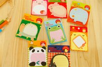 Wholesale Paper Stationery For Children - Kawaii Animal memo timing notes sticky notes pad stickers paper notes notepad stationery for kids children students office