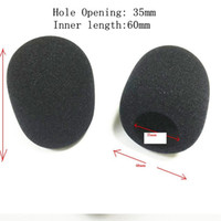Wholesale microphone cover foam resale online - 10 Pack of Handheld Stage Microphone Windscreen Foam Mic Cover for Karaoke DJ inner size mm by post