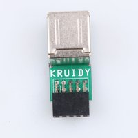 Wholesale Ide Usb Adapter Internal - USB 2.0 10Pin Motherband Converter Female to 2 Port A Female Adapter Convert PCB Board Card Extension Card Internal PC Adapter