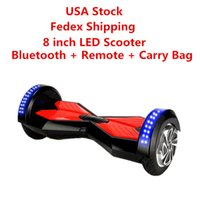 > 14 Years speaker warehouse - USA Warehouse LED Scooters Hoverboard Bluetooth Remote Speaker inch Two Wheels Self Balancing Wheel Smart Electric Skateboard Dropshipping