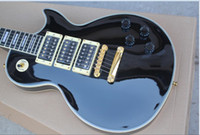 Wholesale Custom Guitar Cases - Custom Shop Peter Frampton Signature Rosewood Fingerboard Black 3 Pickups Electric Guitar with Free Hard Case