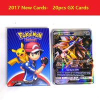 Wholesale Wholesale Kids Collectables - 2017 newest poke go trading cards Shiny 20Pcs Set GX poke Cards EX MEGA Card Games Playing English Pikachu Collectable Card Kids Gift b1354