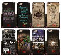 ingrosso iphone di potter-Hot Harry Potter Marauders Custodia rigida per PC per iPhone 7 7p 6 6S Plus 5 5S Mappa di Hogwarts Parole Cover posteriore in plastica Shell pelle