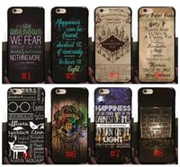 iphone harry potter al por mayor-Hot Harry Potter Marauders duro caso de la PC para iphone 7 7p 6 6S más 5 5 Hogwarts mapa palabras plástico tapa trasera piel Shell
