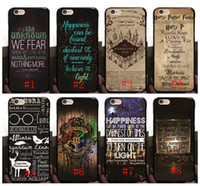 5cd4d16a7e Hot Harry Potter Marauders Hard PC Case for iphone 7 7p 6 6S Plus 5 5S  Hogwarts Map Words Plastic Back Cover Skin Shell