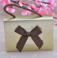 Wholesale New European Favor Box - European Portable Candy Box Creative Wedding Favor Bow tie Wedding Ferrero Box Candy Gift Packaging Box Favor Holders Wedding Party Supplies