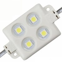 Wholesale Advertising Lights - Injection LED module Waterproof SMD 5050 LED advertising light module DC12V 0.96W 4 led IP66 Colorful Modules Free shipping