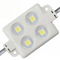 ingrosso illuminazione pubblicitaria-Modulo LED di iniezione Impermeabile SMD 5050 LED modulo luce pubblicitaria DC12V 0.96W 4 led IP66 Moduli colorati Spedizione gratuita