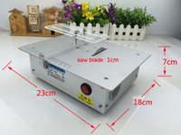 Wholesale Aluminum Alloy Micro Table Saw High Precision PCB Cutting Machine Mini DIY Model Saw Precision Woodworking Saws