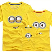 Wholesale Despicable Shirts - Despicable me boys minion t shirt casual family matching outfits summer father mom t shirts brand family look matching clothes