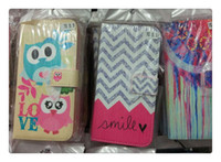 Wholesale Universal Phone Book - AIYINGE PU Leather Book Design Cell Phone Cover Card Holder With Flip Shell Painted Wallet Cartoon Case For Iwing WTD2