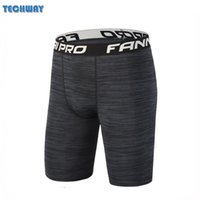 Wholesale Compression Baselayer - Wholesale- 2017 Baselayer Compression Shorts Men Seamless Spandex Short Quick Dry Gym Training Running Basketball Sports Short Gym Wear