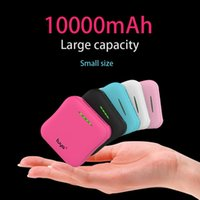Wholesale External Battery Ipad Mini - Wholesale-MINI Power Bank 10000mAh Frosted External Battery Portable Mobile Power Bank Charger for Android Phones iPad with free usb cable