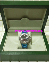 Wholesale watches original box certificate - Christmas gift Luxury mens watches wristwatch Original box certificate 116622 40mm Dark Rhodium Dial Steel Platinum Watch
