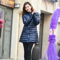 Wholesale Down Long Coat Fur - women's long down jacket outerwear women's fur jackets Overcoat coat coats Tops