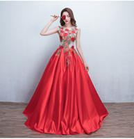 band rosen applikationen großhandel-Brautkleider Kleid Appliques Vintage Rote Rosen Bestickt Sexy Backless Braut Bankett Elegante bodenlangen Party Abendkleid