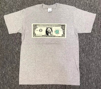 Wholesale Tshirt America - America Hip hop Tee Box logo One Zillion Dollar Tee Skateboard T-shirt Men Women Cotton Casual TShirt