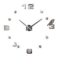 Wholesale Bird Wall Clock Art - Wholesale- 2016 new hot quartz sale quiet wall clock interesting 3d diy home decor clocks birds number art stickers single free shipping