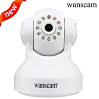 Wholesale Wanscam Ptz Ip Camera - wanscam Indoor PTZ IP 720P Surveillance Camera Day Night Wireless P2P Pan Tilt Wifi Wireless Dual Audio Security Network Camera
