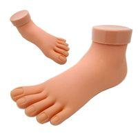 ingrosso mano flessibile della pratica del chiodo-Commercio all'ingrosso- Adesivo flessibile in plastica morbida Mannequin Modello Hand Practice Tool Practice Foot Model Nail Sticker 2016