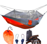 Wholesale Red Mosquitos - mosquito net hammock Double personal Outdoor camping Air tents 260*140CM Camping Tents hot selling