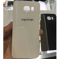Wholesale Oem Piece - 1 piece OEM Original Back Housing Glass for Samsung Galaxy S6 G920 Battery Cover Door Brand New Fast Shipping
