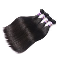 Wholesale tangled weave hair extensions resale online - 9A Peruvian Virgin Hair Straight Peruvian Human Hair Extensions Bundle Deals Peruvian Straight Hair Weave Straight No Tangle