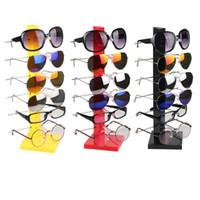 Wholesale sunglasses rack displays - High Quality Six Pairs Glasses Display Sunglasses Holder Eyeglasses Frame Men Women's Glasses Storage Rack Home Organizer Shelf