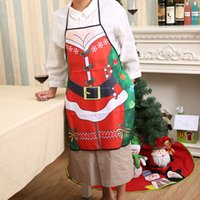 Wholesale 3D Funny Apron Christmas Aprons Adult Santa Claus Aprons Women And men Dinner Party Cooking Apron Cozinha Tablier Styles