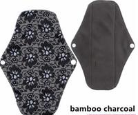 "Wholesale Cloth Menstrual Pads Wholesale - CHARCOAL BAMBOO Cloth Menstrual Sanitary Maternity Mama Pads Reusable Washable 10"" Regular Light Flow,Medium,M 25 Choice LLFA"