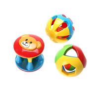 Wholesale Pc Intelligence - Wholesale- 3 Pcs Bell Ball Eco-friendly Plastic Baby Toy Fun Little Loud Jingle Ball Ring Jingle Develop Baby Intelligence Toy Gifts