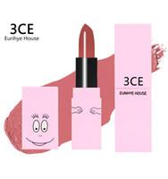 3ce kosmetik großhandel-3CE Eunhye House Dumb glatte feuchtigkeitsspendende lippenstift Wasserdichte Lipgloss Kosmetik Make-Up Lippenstift 3CE BARBAPAPA Lippenstift 6 Farben