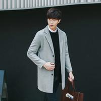 Wholesale good jacket brands - Wholesale- Brand Men's Good quality coat autumn winter 2016 Slim fit design men long windbreaker big yards thick coat jacket hot sale