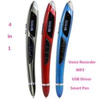 Wholesale Pen Driver 8gb - Wholesale- Newest Sunniq 8GB Digital Audio Voice Recorder Pen 200 hours Professional Dictaphone Voice Recorder with MP3 Usb Driver