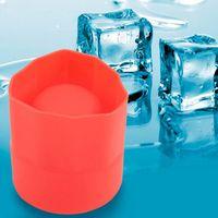 tazas congeladas al por mayor-Agujero único de silicona Copa de hielo Molde Congelado Jugo de fruta Leche Vino Helado Bandeja de hielo Copa Shochu Copa Barril Rojo Barra de enfriamiento Herramienta