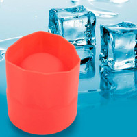 Wholesale Ice Tray Cup - Single Hole Silicone Ice Cup Mold Frozen Fruit Juice Milk Wine Icing Ice Tray Cup Shochu Cup Barrel Red Cooling Bar Tool
