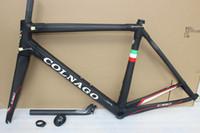 Wholesale Carbon Fiber Frame 52 - colnago C60 road bike carbon frame full carbon fiber road bike frame 48 50 52 54 56cm T1000 carbon frameset