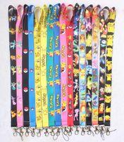 Wholesale Pikachu Mix - Free Shipping 30 Lot Mix Design Anime Pikachu PHONE LANYARD KEYS ID NECK STRAPS Wholesale
