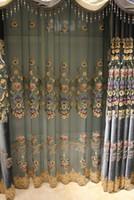 Wholesale Elegant Luxury Embroidery - Luxury Flannal Drapes Living Room Curtains Rilievo Modern Curtain Window Shades Embroidery Elegant Beautiful Room Decoration #Gauze