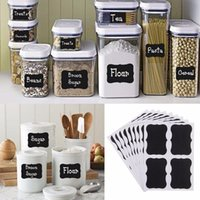 36Pcs Blackboard Sticker Black Chalkboard Chalk Board Decals para artesanato Kitchen Jar Organizer Labels