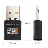 Wholesale 5ghz Wifi Adapter - 600mbps USB Wifi Adapter 2.4GHz 5GHz Wifi Antenna support Windows 802.11b n g ac USB Network Card wifi for laptop PC