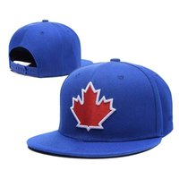 Wholesale Snapback Wholesale Canada - Wholesale- Toronto Blue Jays Men's Snapback Hats With Red Color maple leaf Sports Flat Baseball Adjustable Design Caps Bones canada cap