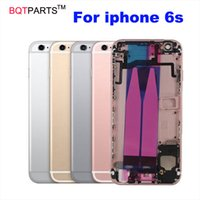 Wholesale Iphone Testing Flex - 100% Tested i6s 4.7 housing Chassis Full Parts For Apple Iphone 6s Metal Back Cover Housing Complete with Flex Cable