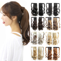Vente en gros - 16 couleurs Wave Magic Hair Ponytail Hair Pieces Drawstring Ribbon Hairpiece Clip In Pony Tail Hair Extensions