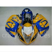 Wholesale hayabusa yellow - 5 free gifts New ABS motorcycle Fairing Kits 100% Fit For SUZUKI GSXR1300 Hayabusa 2008-2014 good nice Yellow Blue no.a12