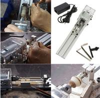 ingrosso macchine per tornelli-DC 24V 80W Mini Tornio Perline Macchina in legno Tornio fai da te Set standard + Alimentazione